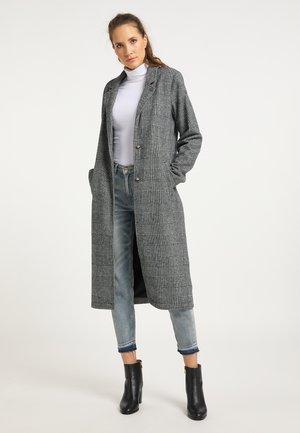 Klassisk frakke - glencheck schwarz