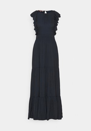 DRAPEY DRESS WITH SCALLOPED EDGE DETAILS - Maxi šaty - night