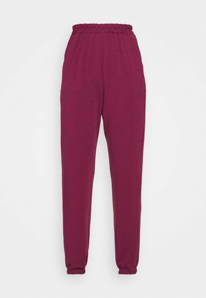 BASIC - Tracksuit bottoms - burgundy