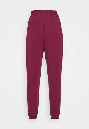BASIC - Teplákové kalhoty - burgundy