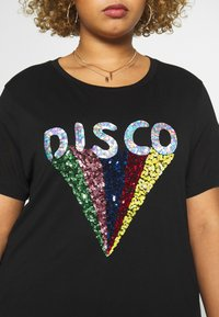 Simply Be - SEQUIN EMBELLISHED MOTIF - T-shirts print - black - 4