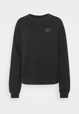 RAGLAN LONGSLEEVE SLITS AT SIDESEAM CHEST PRINT - Sweatshirt - black