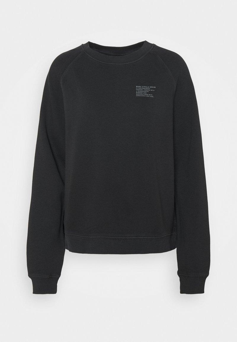 Marc O'Polo DENIM - RAGLAN LONGSLEEVE SLITS AT SIDESEAM CHEST PRINT - Sweatshirt - black
