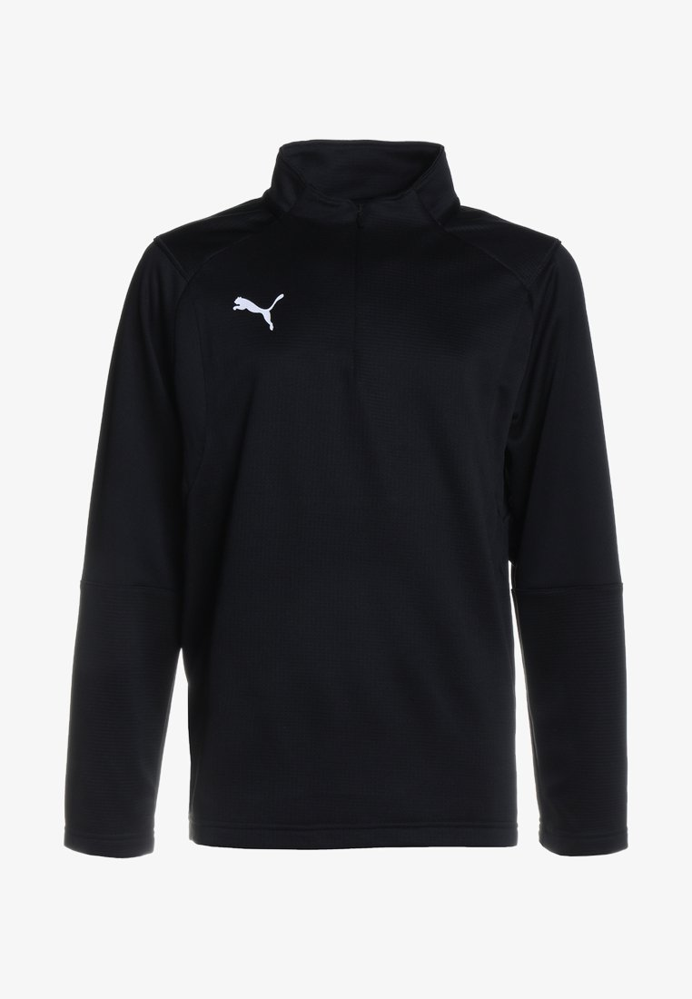 Puma - LIGA TRAINING ZIP  - T-shirt de sport - black/white