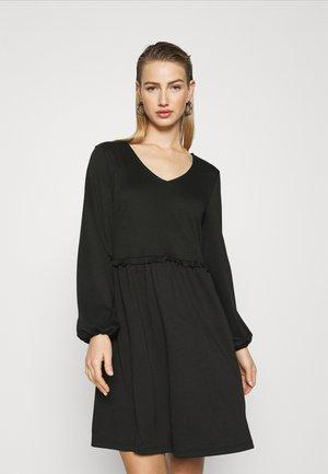 VITINNY V NECK DOLL DETAIL DRESS - Jerseyjurk - black
