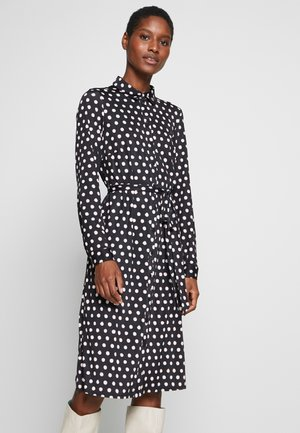 SPOT DRESS - Jersey dress - black/white