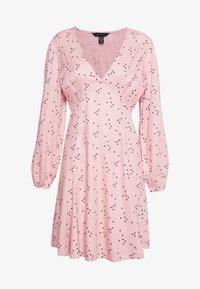 New Look - HEART SEAM DETAIL MINI - Denní šaty - black pattern - 3