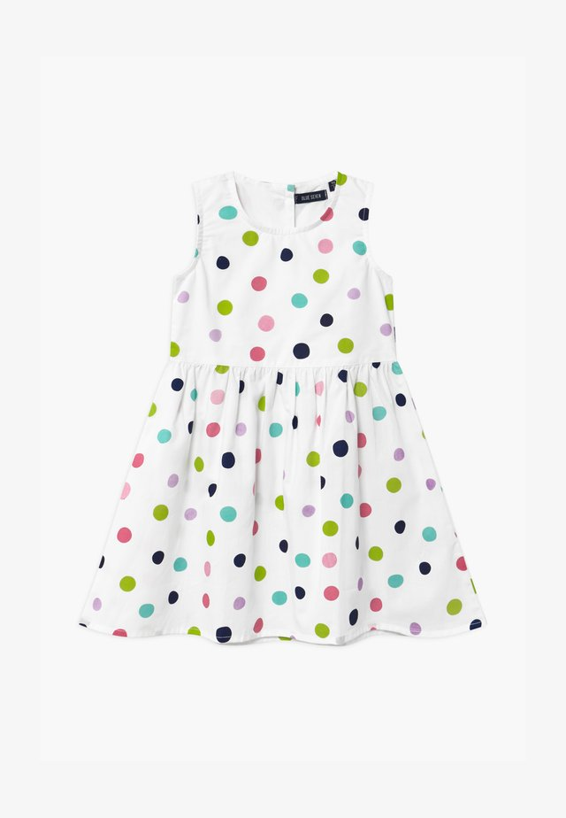 SMALL GIRLS RAINBOW SPOT - Cocktail dress / Party dress - white