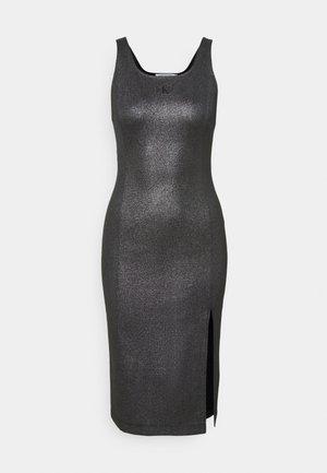 SQUARE NECK  MILANO DRESS - Žerzejové šaty - black