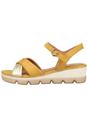 Sandalen met plateauzool - sun comb 618
