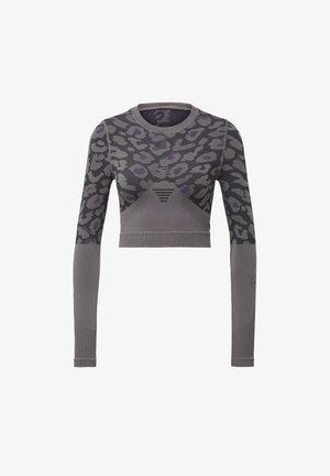 ADIDAS BY STELLA MCCARTNEY TRUEPURPOSE SEAMLESS CROP  - Long sleeved top - grey