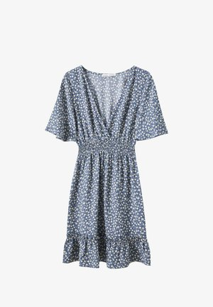 Day dress - mottled blue