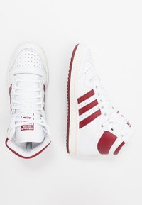 adidas Originals - TOP TEN - Zapatillas altas - footwear white/collegiate burgundy/chalk white - 1