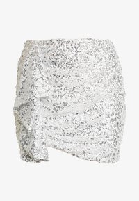 Nly by Nelly - MINI SKEQUIN SKIRT - Minijupe - silver - 3
