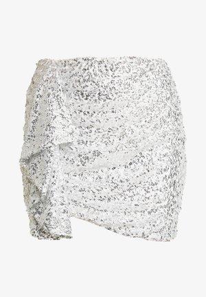 MINI SKEQUIN SKIRT - Miniskjørt - silver