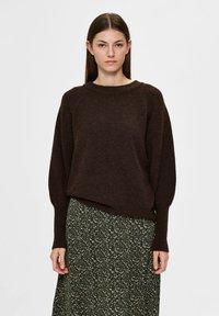 Selected Femme - Sweatshirt - coffee bean - 0