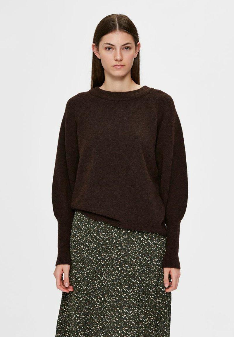Selected Femme - Sweatshirt - coffee bean