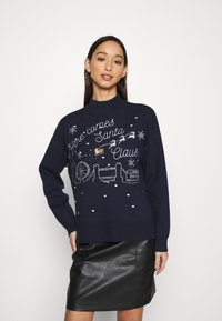 Fashion Union - CHRISTMAS HERE COMES SANTA CLAUS - Jumper - navy - 0