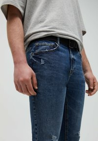 PULL&BEAR - Slim fit jeans - mottled blue - 3