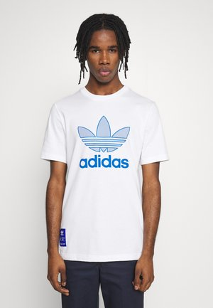 WARMUP TEE - Print T-shirt - blue/white