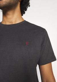 AllSaints - BRACE CONTRAST CREW - Basic T-shirt - soot black marl - 5
