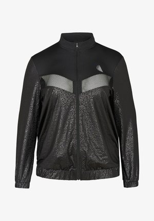 WITH PATTERN MADE UP OF SIMILAR COLORS - Training jacket - black