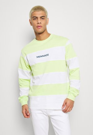 PANELLED STRIPE - T-shirt à manches longues - lime