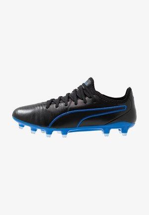 KING PRO FG - Moulded stud football boots - black/royal blue