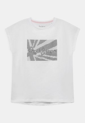NOE - T-shirt con stampa - optic white
