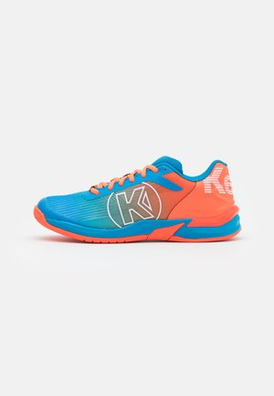 ATTACK THREE 2.0 - Handball shoes - blue/flou red