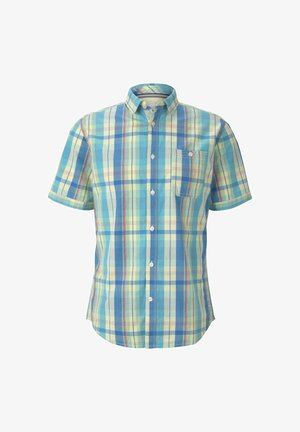 Hemd - yellow blue colourful check