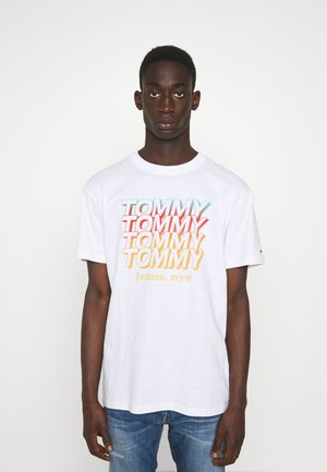 REPEAT TOMMY TEE - Triko spotiskem - white