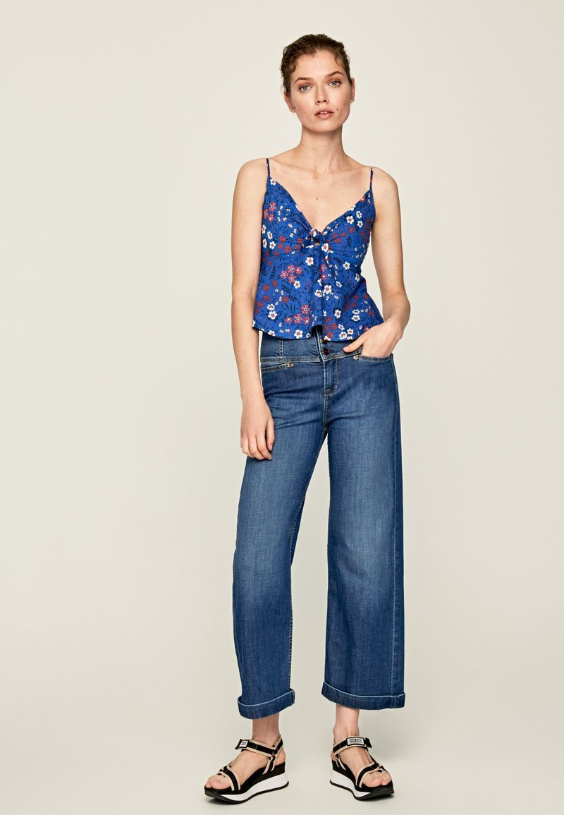 Pepe Jeans - Top - blue, red, white