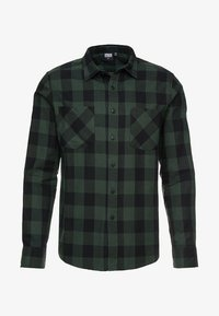 Urban Classics - CHECKED SHIRT - Camicia - black/forest - 4