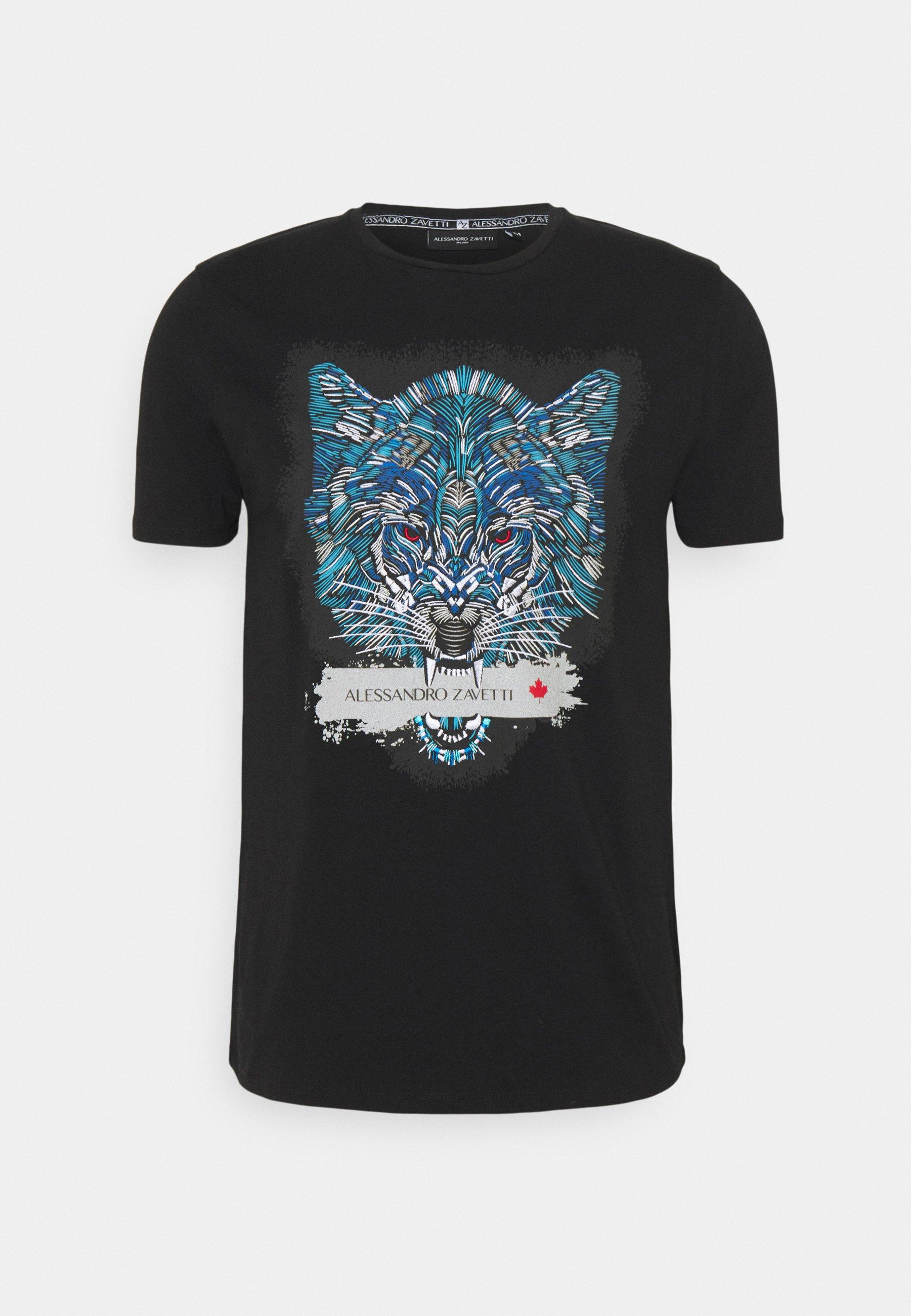 Men SAVAGE WOLF TEE - Print T-shirt