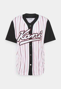 Karl Kani - VARSITY BLOCK BASEBALL - Shirt - black - 4
