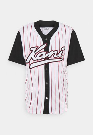 VARSITY BLOCK BASEBALL - Shirt - black