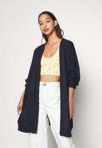 Monki - CAMILLA CARDIGAN - Zip-up hoodie - dark blue navy - 0