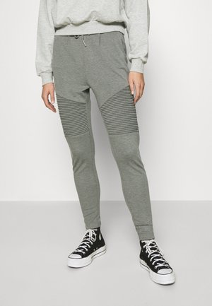 ONLPOPTRASH EASY BIKER PANT - Tracksuit bottoms - medium grey melange