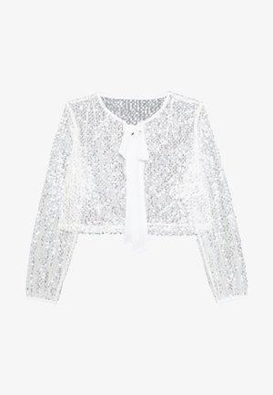 VILJA COVER UP - Summer jacket - cloud dancer/silver