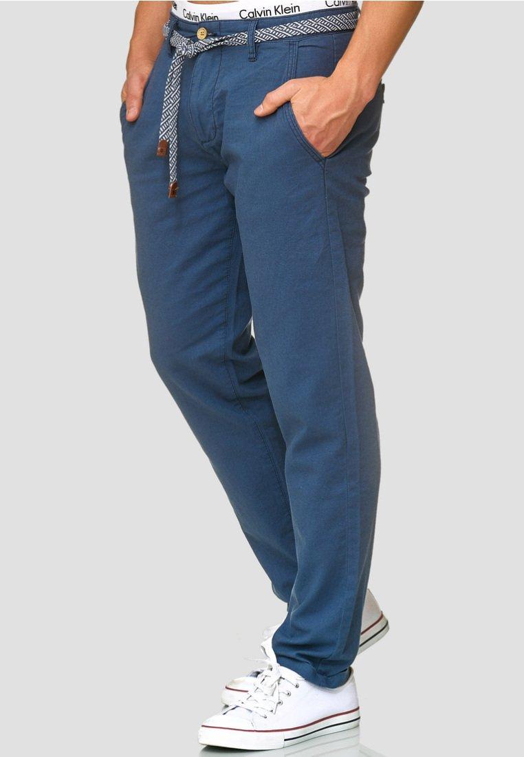 INDICODE JEANS - HAVER - Trousers - dark denim