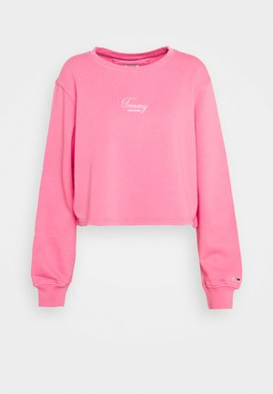 WASHED LOGO CREW - Sweatshirt - glamour pink