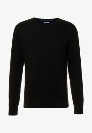 BASIC CREW NECK - Jumper - black