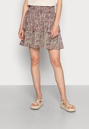 KALINE SHORT SKIRT - Mini skirt - red, light pink