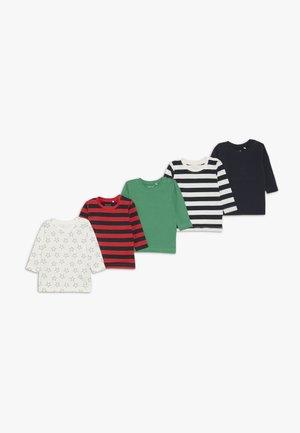 NBMOMAN 5 PACK - T-shirt à manches longues - dark sapphire