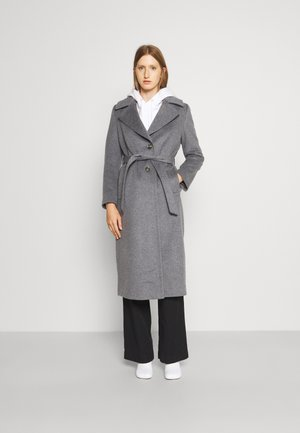 COAT CLARETA BELT - Classic coat - medium grey