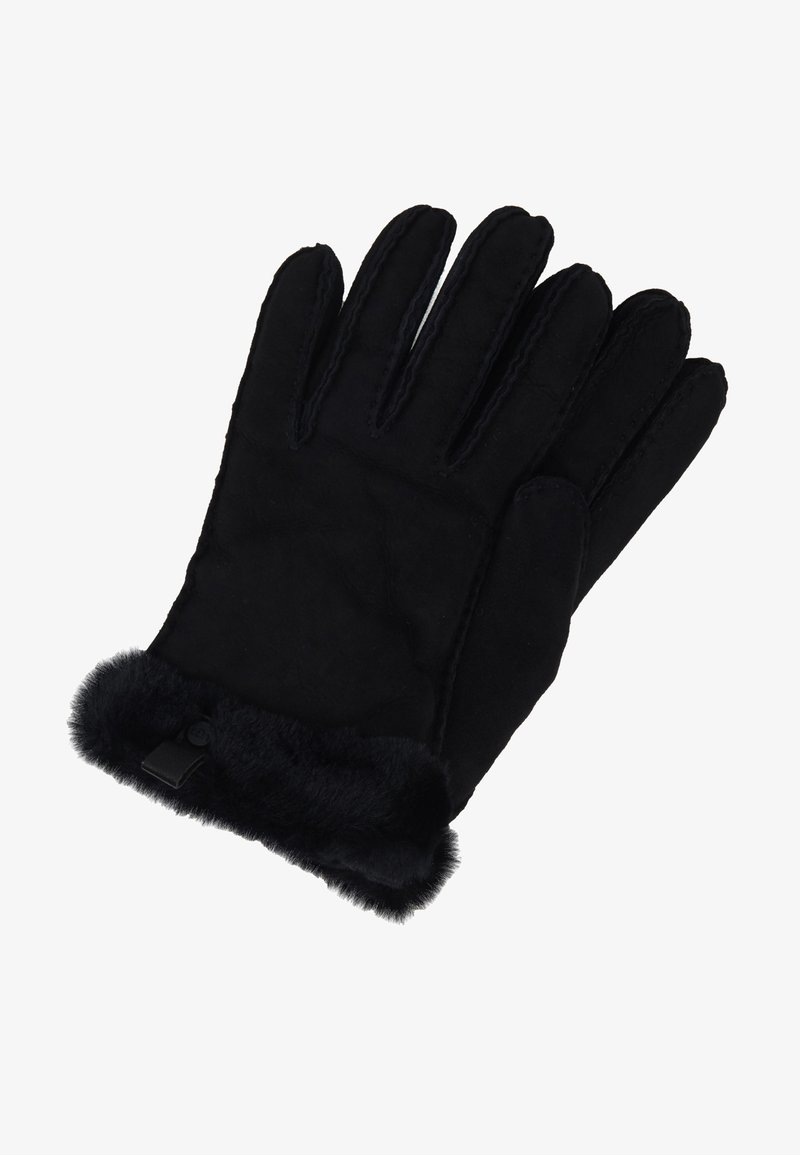 UGG - SHORTY GLOVE TRIM - Handschoenen - black