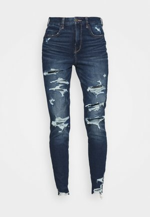CURVY HI RISE DREAM - Jeans slim fit - destroyed dark