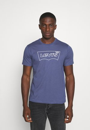 HOUSEMARK GRAPHIC TEE - Printtipaita - blue indigo