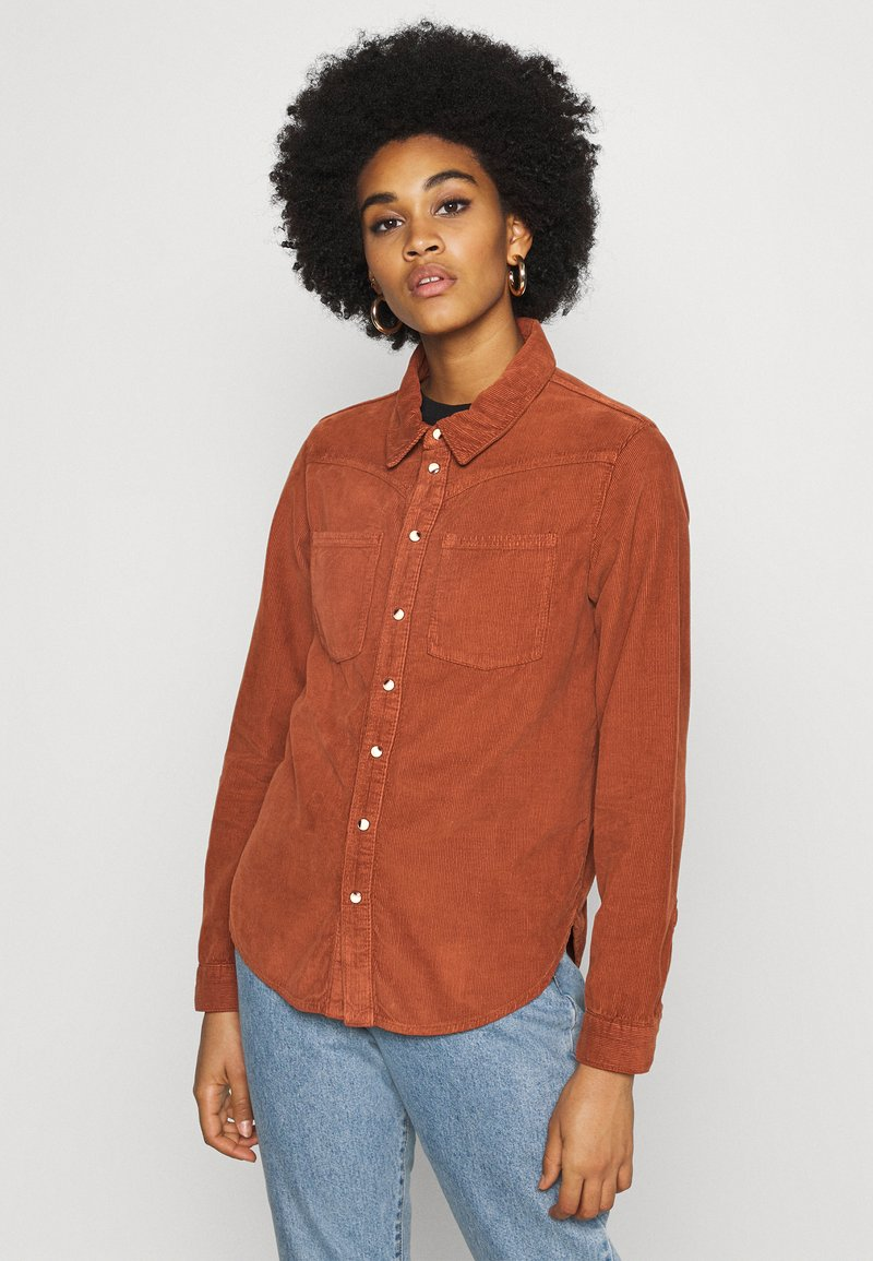BDG Urban Outfitters - WESTERN SHIRT - Button-down blouse - gingerbread